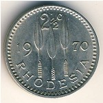 Rhodesia, 2 1/2 cents, 1970