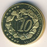 Cyprus, 10 euro cent, 2004