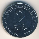 Central African Republic, 2 francs, 2006